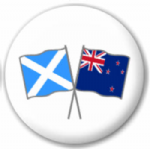 Scotland St Andrew and New Zealand Friendship Flag 25mm Pin Button Badge